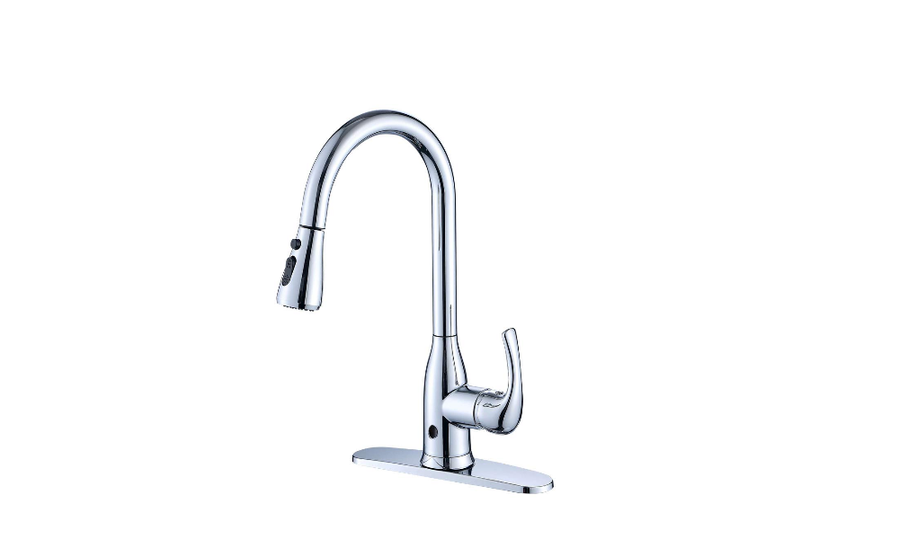 Deck Plate Chrome Kitchen Faucet